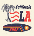 california surf handmade palms trees vector image