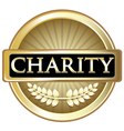 Charity Gold Label vector image
