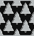 christmas tree seamless pattern in grey vector image vector image
