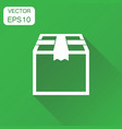 closed box icon business concept shipping pack vector image vector image