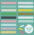 Collection of Cute Patterned Washi Tape vector image