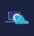 computer and cloud storage icon vector image vector image