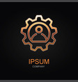conference icon design logo element vector image vector image