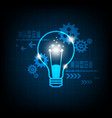 creative technology in the concept of light bulbs vector image