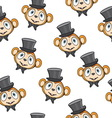 Cute monkey pattern vector image vector image