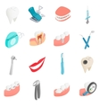 Dental set icons isometric 3d style vector image vector image