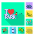 design urban and street icon collection vector image