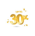 discount up to 30 template design vector image vector image