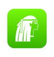 egyptian girl icon digital green vector image vector image