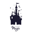 fairy tale medieval castle silhouette wit night vector image vector image