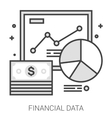 Financial data line infographic vector image vector image