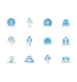Flat design fountains architecture icons vector image