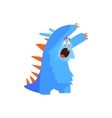 Furry Childish Monster Chasing vector image vector image