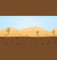 game background desert sahara with cactus tree vector image