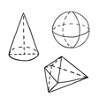 Geometry doodle Outlined vector image vector image