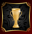 Golden Championship Trophy Cup vector image vector image
