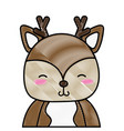 grated adorable and shy deer wild animal vector image vector image