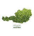 green leaf map of austria of a vector image vector image
