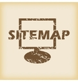 Grungy sitemap icon
