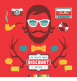 Hipster Signs Elements vector image