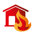 house insurance icon emblem vector image