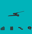 howitzer icon flat vector image vector image