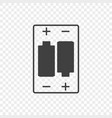 icon of the correct location of the batteries in vector image vector image