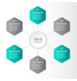 infographic business presentation number options vector image