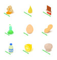 intolerant icons set isometric style vector image vector image