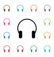 isolated listen icon earmuff element can vector image