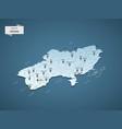 isometric 3d ukraine map concept vector image