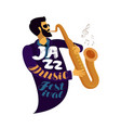 jazz festival live music jive concert concept vector image vector image