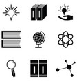 knowledge icon set vector image