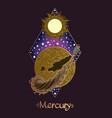 landscape of planet rhombus mercury vector image vector image
