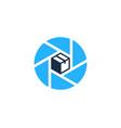 lens box logo icon design vector image