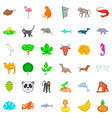 live icons set cartoon style vector image vector image