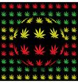 Marijuana background vector image vector image