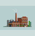 old factory building concept vector image