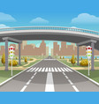 overpass autobahn and highway vector image