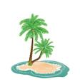Palm Tree on Island6 vector image vector image