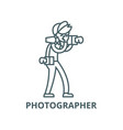 photographer line icon linear concept vector image vector image