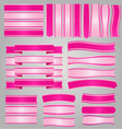 Pink ribbons and banners vector image vector image