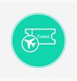 plane ticket icon sign symbol vector image vector image