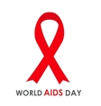 Red Ribon - Symbol of 21 December World AIDS Day vector image vector image