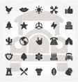 Retro Hand Drawn Logos Design Elements Set vector image vector image