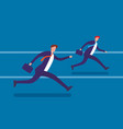 running businessmen flat vector image
