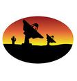 satellite dish desert vector image vector image