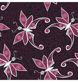 Seamless pattern with butterfly and leaves You can vector image