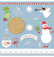 Set of Christmas and New Year elements vector image