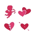 Set of cupid icons vector image vector image